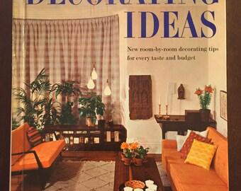Better Homes & Gardens Decorating Ideas, 1960 vintage book