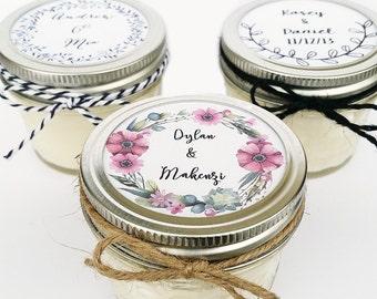 100 Wedding Favor Candles | Mason Jar Favors | Rustic Favors | Wedding Favors | Custom Wedding Favor | Baby Shower Favor | Custom Favors