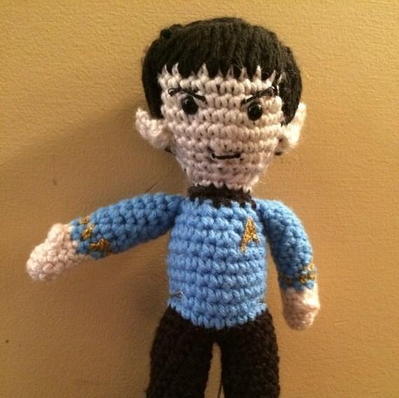 Amigurumi Star Trek : Made to Order Spock Star Trek ToS inspired Amigurumi Doll