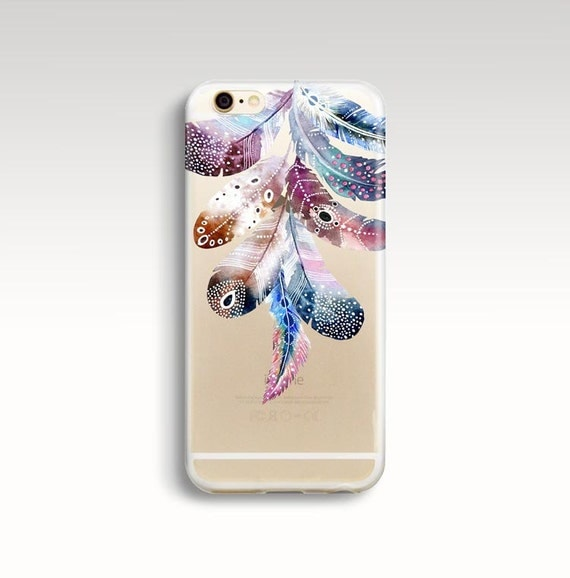 iphone 6 case clear iphone 6s case feathers iphone 6 case