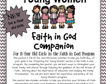 Preparing for Young Women~ Faith in God Companion