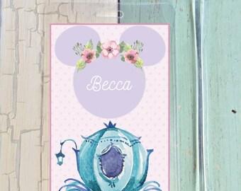 Whimsical Cinderella Luggage Tag