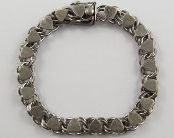 """6 1/2"""" Sterling Silver Vintage Charm Bracelet Without Charms"""