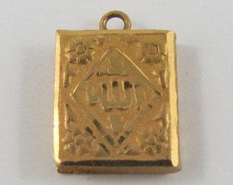 Book 18K Gold Vintage Charm For Bracelet