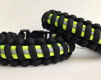Custom Mini Firefighter Bunker Gear Paracord Bracelet