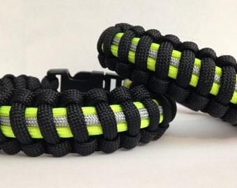 Mini Firefighter Bunker Gear Paracord Bracelet