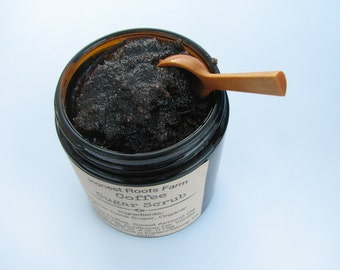 Organic Coffee Scrub - Organic Body Scrub - Coffee Body Scrub -  4 oz Sugar Scrub- All Natural Sugar Scrub - Fair Trade Coffee  Sugar Scrub