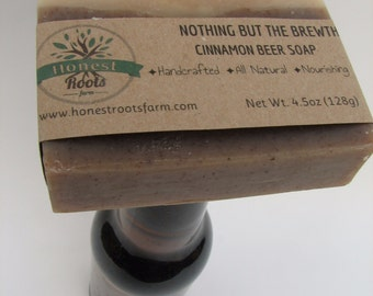Cinnamon Beer Soap - Guy Soap - Man Soap - Gift for Him - All Natural Soap - Essential Oil Soap - 4.5 oz Bar Soap - Beer Lover