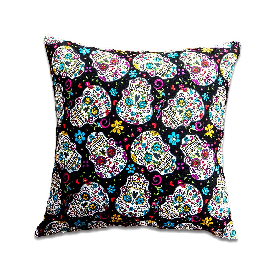 Skull Pillow Cover Skull Cushion Cover Frida Kahlo Cushion