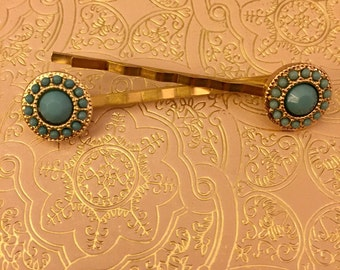 Gold Bobby Pins, Bridesmaid Hair Pins, Wedding Hair Pins