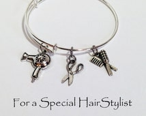 Hairdresser Gift, Hairstylist Gift, Gifts for Hairdresser, Hairstylist Jewelry, Hair Dresser Gift, Hairdresser Jewelry, Adjustable Bracelet