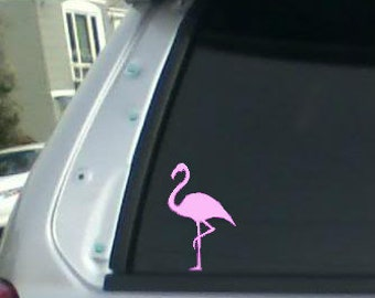 Flamingo decal, Flamingo, pink flamingo, flamingo, laptop decal, window decal, phone decal, wall decal, tropical decal, bird decal