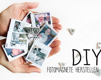 DIY kit photo magnets produce, Polapix