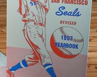1957 Vintage San Francisco Seals Yearbook - Canvas Gallery Wrap - 10 x 14 #BB146