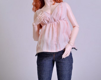 BJD SD 1/3 Flirty Morning top for Iplehouse SID, Granado Nuevo and other large dolls