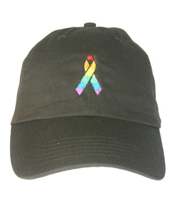 Pride Ribbon (Polo Style Ball Black with White Stitching)