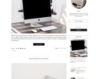 Responsive Premade Blogger Template - Minimalist Simple Clean Template -Blogspot Theme