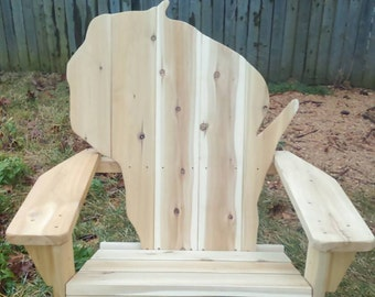 Wisconsin adirondack chair, Wisconsin chair, cedar adirondack chair, patio furniture, outdoor furniture, FREE SHIPPING