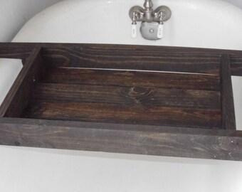 Over the Tub Wooden Bathtub Caddy for Old Fashioned Tub