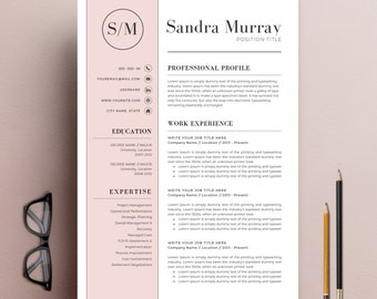 Professional Resume Template | CV Template + Cover Letter + Reference Letter  For MS Word |  Resume Reference Letter