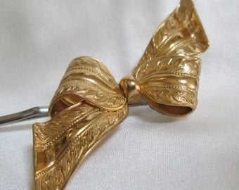 Darling flower girl Gold Hair Bow