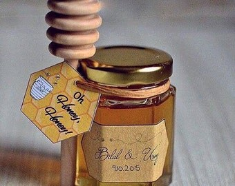 Honey Jar with Dipper Wedding Favour x50