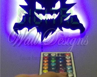 Remote Controlled Haunter Pokemon LED Backlit Wall Art kids children night light