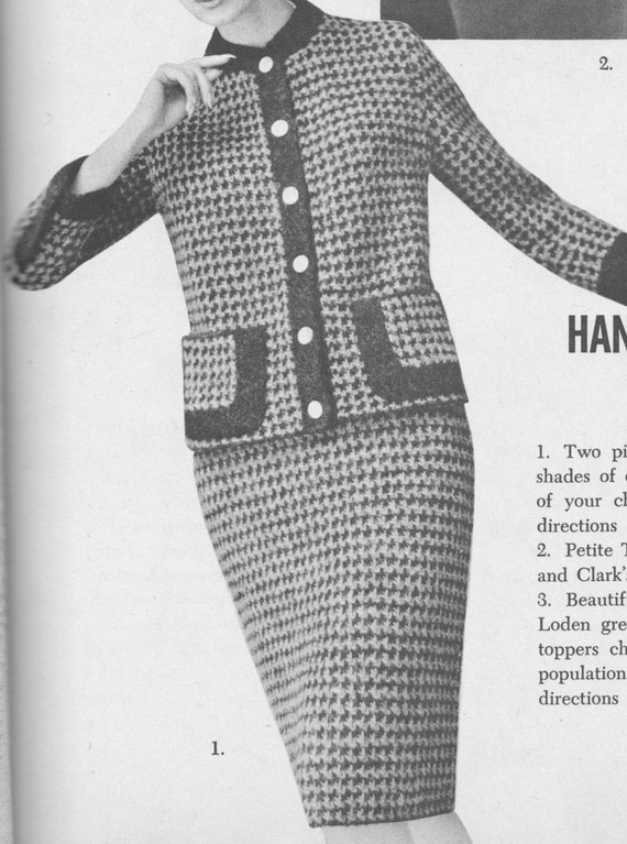 Knitting Pattern Chanel Style Jacket : 166 PDF Chanel Style Suit knitting Pattern Ladies Jacket and