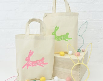 Easter egg hunt bag etsy personalised bunny easter egg hunt bag easter bag easter hunt bag easter gift negle Image collections