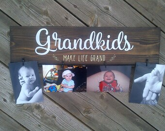 Grandkids make life grand Picture Frame - Grandparent Gift,Gifts for Grandparents,Custom Picture Frame,Grandparent Gifts,Christmas Gift