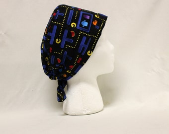 Pac Man Arcade Tribute Surgical Dentist Scrub Cap Chemo Hat