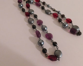 Vintage Butler and Wilson (BW) 1980 Multicolored Bead Necklace
