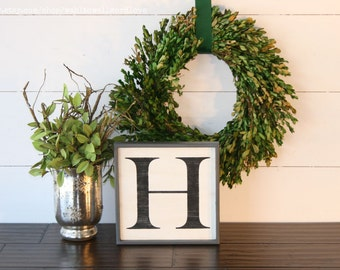 wood letter sign vintage letter sign farmhouse style wooden letter capital letter wall decor alphabet sign monogram wall decor letters
