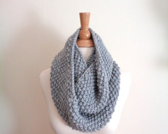 Youth Infinity Scarf in Soft Grey