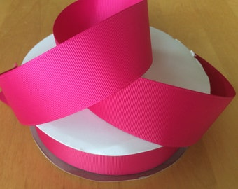 "Shocking Pink Grosgrain Ribbon 1.5"", Solid Colour Ribbons"