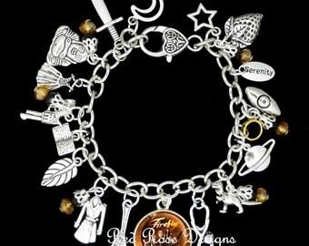 Firefly Themed Charm Bracelet, Serenity