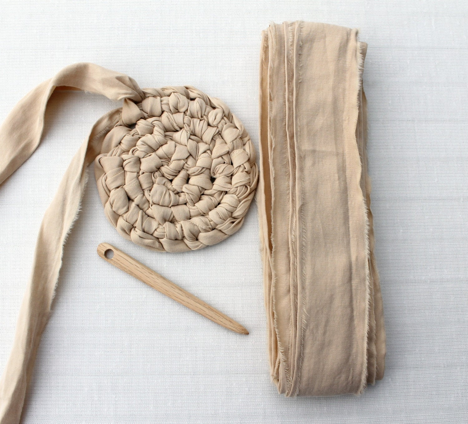 knotted rag rug instructions