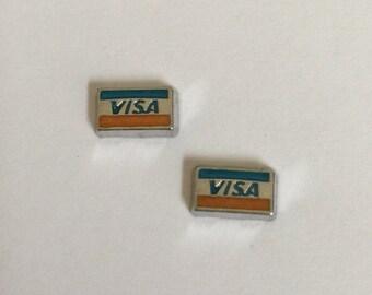 VISA Stud Earrings