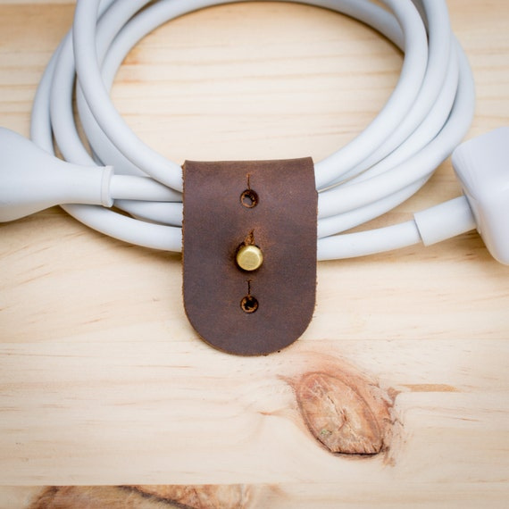 Cable organizer extension cord wrapper leather by capraleather Extension cable organizer