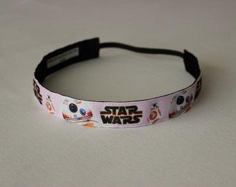 Star Wars BB-8 Pink Non Slip Headband