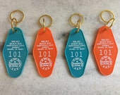 Vintage Style Hotel Key Tags