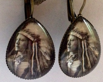 Earrings - John Hollow Horn Bear, Sioux