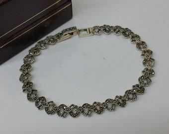 Bracelet Silver 925 Markasiten in the art nouveau style shabby vintage SA275