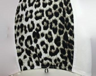 Satin silk leopard print pull on or roll on girdle