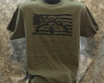 U.S. Army Military Police cross pistols flag