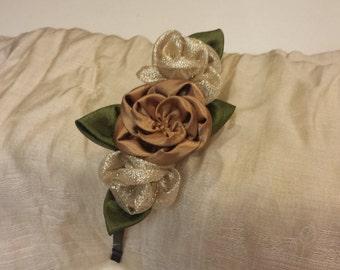 Handmade 3 flowers headband