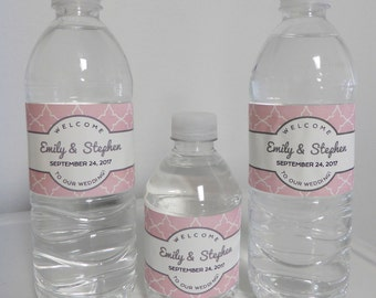 14 Colors Wedding Water Bottle LABELS ONLY  Waterproof Labels  Wedding  Favor  HotelWedding water labels   Etsy. Diy Wedding Water Bottle Labels. Home Design Ideas