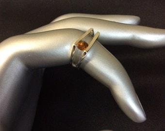 Vintage Citrine Sterling Silver Ring Size 5.5