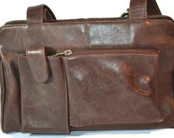 American Angel, Designer Handbag, Brown Leather Bag,  Purse, Leather Satchel, Colombian Leather, Handbag, Vintage Purse