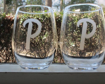 personalized wine glass - personalized wine glasses - stemless wine glasses